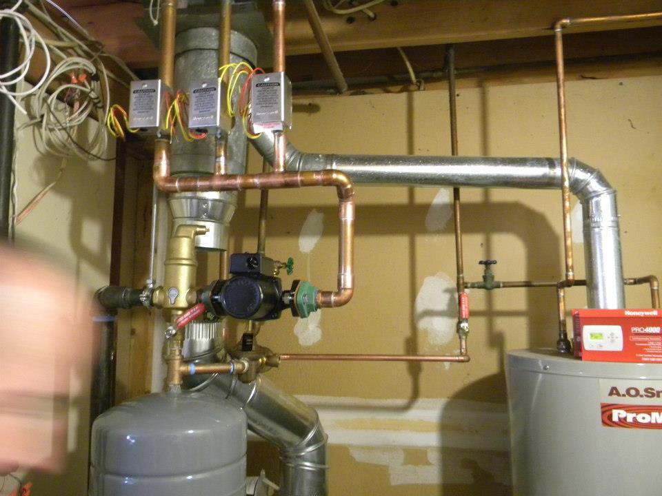 Milford water heater installation